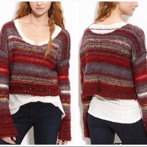 Free People cropped chunky knit sweater